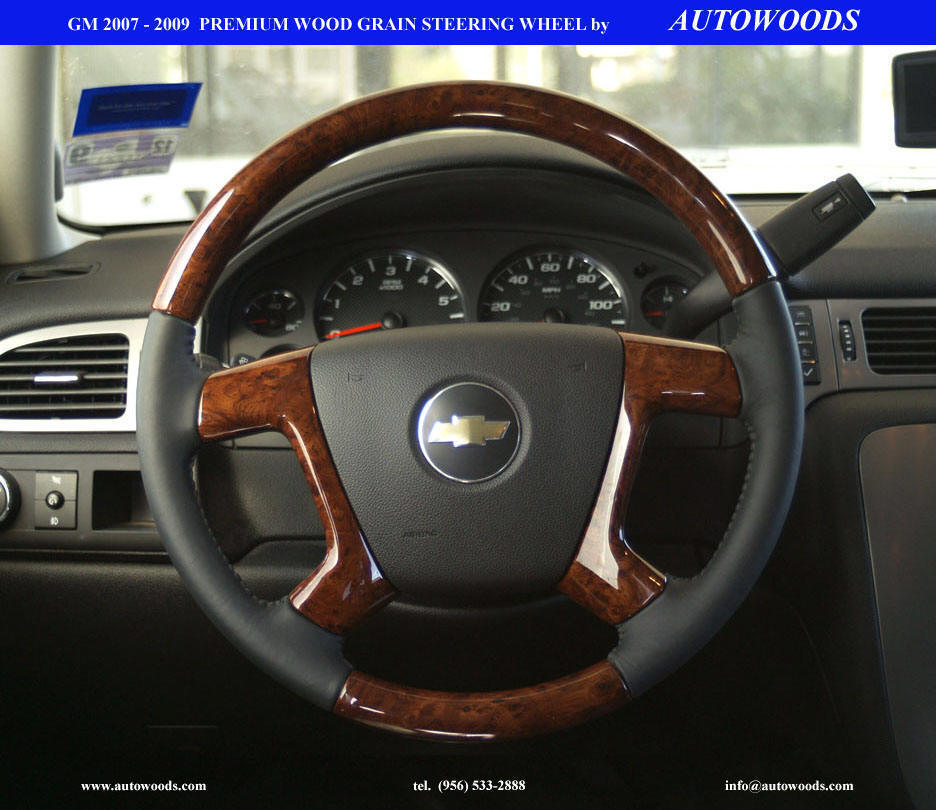 Wood Grain Steering Wheel Manufacturer Accessory Chevy Gmc