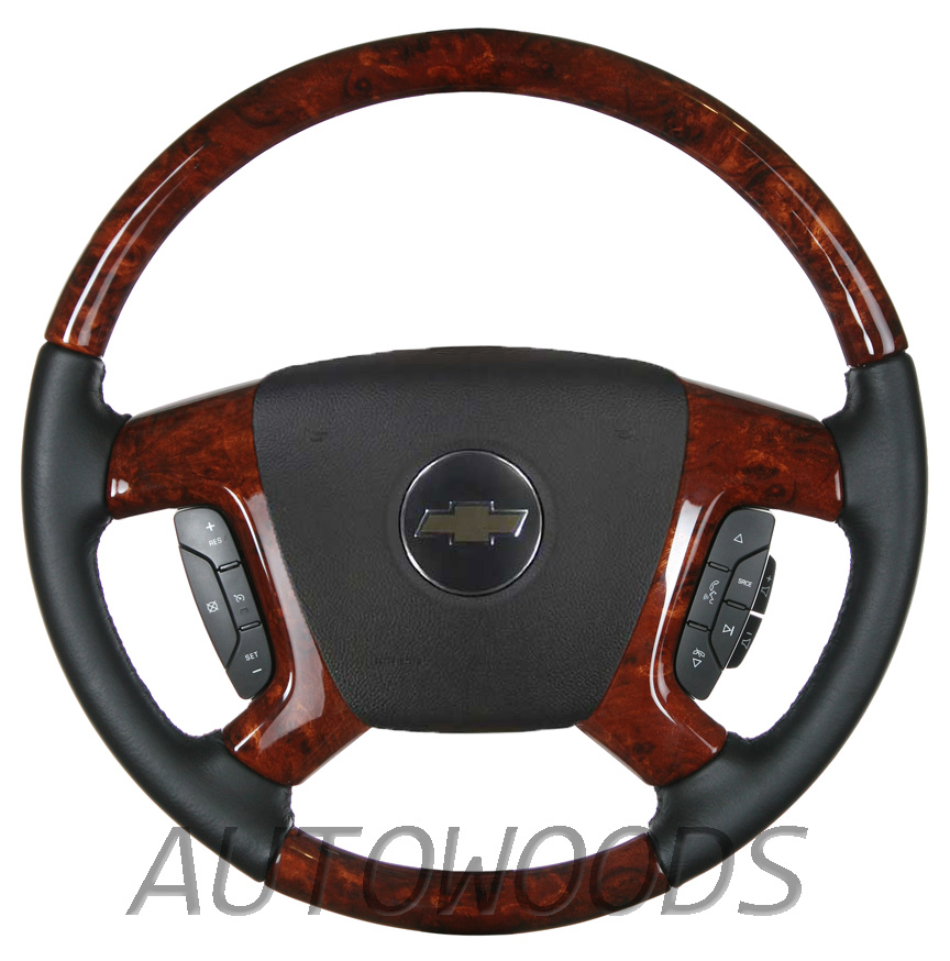 wood leather oem steering wheel for 2007 2008 2009. Black Bedroom Furniture Sets. Home Design Ideas